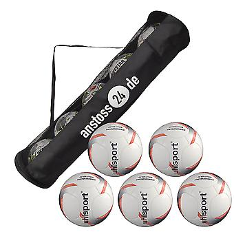 5 x Uhlsport game ball REVOLUTION THERMOBONDED incl. ball hose