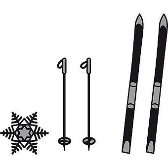 Marianne Design Craftables Cutting Dies - Skis And Snowflakes CR1252