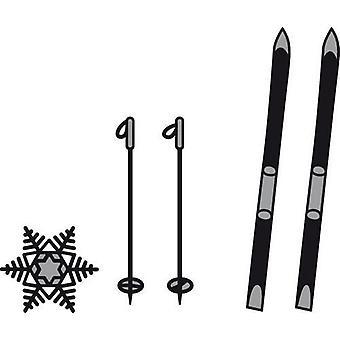 Marianne Design Craftables Leikkaus Kuolee - Sukset ja Lumihiutaleet CR1252