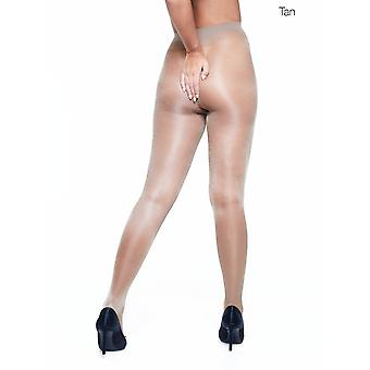 Miss Naughty Sheer Gloss Open Gusset Tights