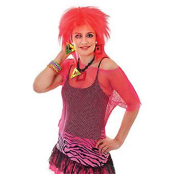 Mesh Top. Pink Neon. Kvinde