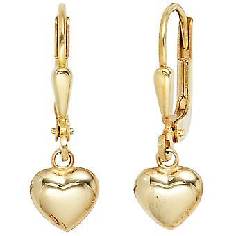 Kids Boutons Heart 333 Gold Yellow Gold Earrings Earrings Kids Earrings