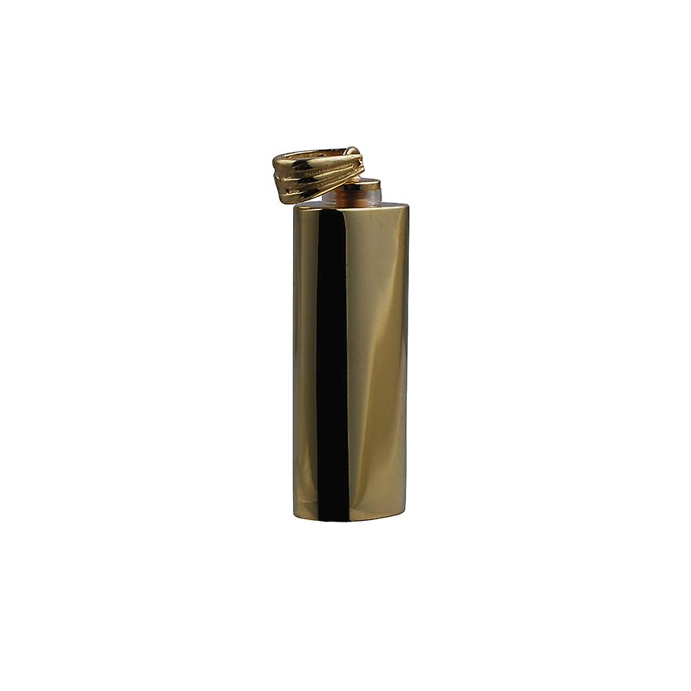 9ct Gold 33x13x10mm handmade plain oval Memorial Cylinder
