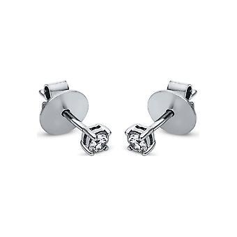 Boucles d'oreilles en goujon de diamant - 18K 750/- or blanc - 0,19 ct. - 2H702W8-1