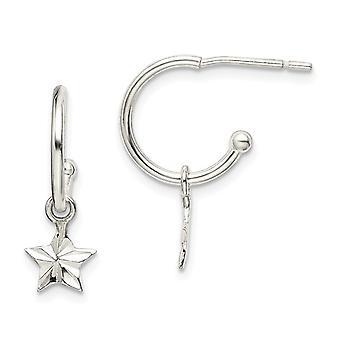 925 sterlinghopea tähti dangle vanne korvakorut korut lahjat naisille - 1,0 grammaa