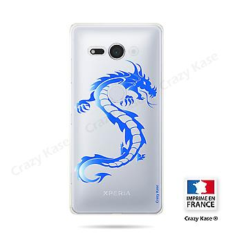 Hull For Sony Xperia Xz2 Compact Soft Blue Dragon