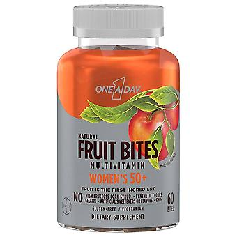 One a day women's 50+ multivitamin, natural fruit bites, 60 ea