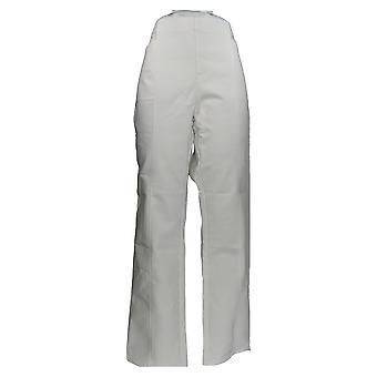 Denim & Co. Women's Pants Double Weave Straight-Leg White A349233