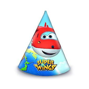 Super wings aircraft Jet hats 6 piece children birthday theme party