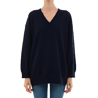 Balenciaga 583135t40924140 Women's Blue Cashmere Sweater