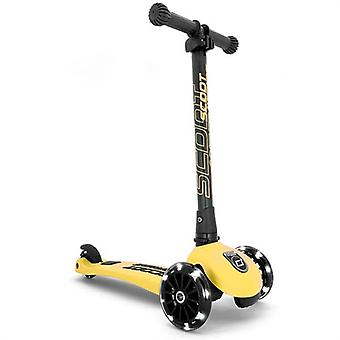 scoot and ride highwaykick 3 led folding scooter lemon ages 3-6 years