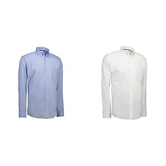ID Mens Oxford Shirt lange mouw Modern Fit