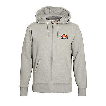 Ellesse Miletto Cotton Hooded Full Zip Grey Hoodie