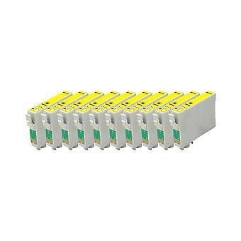 החלפת מהדורת 10x ליחידת הדיו של Epson TeddyBear בצבע צהוב D68, D68 Edition, D88, D88 מהדורת צילום, D88 פלוס, DX3800, DX3850, DX3850 פלוס, DX4200, DX4250, DX4800, DX485