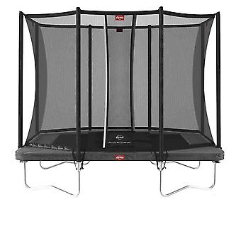 berg grey ultimately favorit regular 280 9ft trampoline + safety net comfort