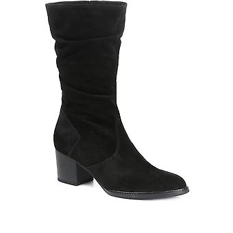 Gabor Womens Ramona Suede Slouch Kalf Boot