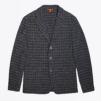 Barena  - Relaxed Checked Blazer - Navy/Beige