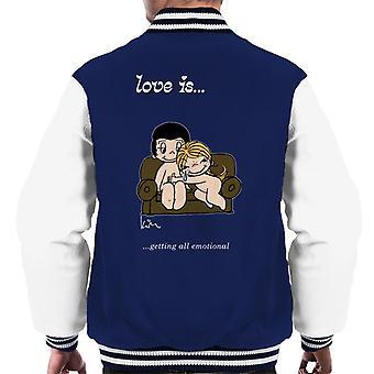 Love Is Getting All Emotional Men's Varsity Jacket