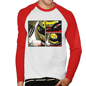 Motorsport Images Ayrton Senna McLaren Circuito Estoril Frame Art Hommes-apos;s Baseball Long Sleeved T-Shirt