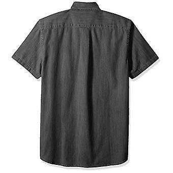 Goodthreads Męska&s Slim-Fit Jeansowa koszula z krótkim rękawem, umyta na czarno, średnia