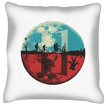 Stranger Things Upside Down Moon Silhouette Cushion