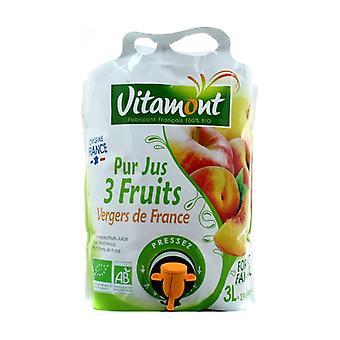 Jugo de fruta pura de los huertos 3 L