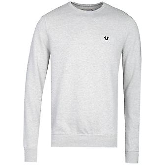 True Religion Metallic Horseshoe Grey Crew Neck Sweatshirt