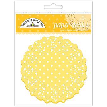 Doodlebug Design Bumblebee Polka Dot Doilies (75kpl) (4467)