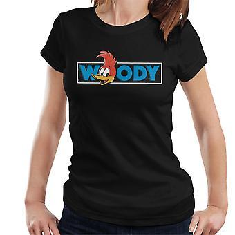 Woody Woodpecker Blue Logo Women's T-Shirt