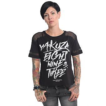 YAKUZA Women's T-Shirt Ent Panelling Box Fit