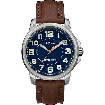 TW4B16000, Timex TW4B16000 Men's Expedition Metal Field Brown Leather Strap Watch