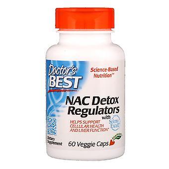 Doctor's Best, REGULADORes de desintoxicación NAC, 60 gorras vegetarianas