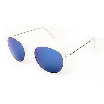 Gafas de sol Unisex panto mate blanco/azul (19-175)