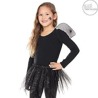 Bat Set 2pcs. Kids Set Halloween Carnival Girl Tulle Skirt Wings Bat