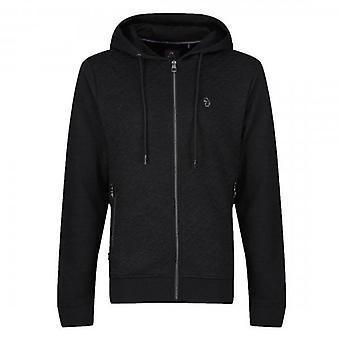 Luke 1977 Luke Ellbent Logo Jacquard Zip Up Hoody Sweatshirt Black M560309