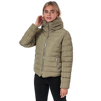 Women's Tokyo Laundry Quince Quilted Puffer Jacket in Brown