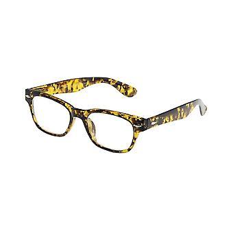Leesbril Unisex Le-0146M Mode zwart/gele dikte +3,00
