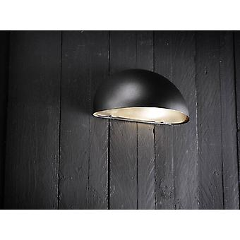 1 Light Outdoor Wall Light Black, E14