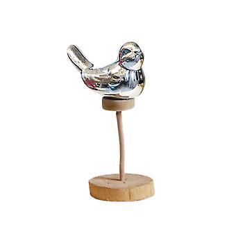 Ceramic Wood Art Craft Desktop Statue Home Decoration Silver