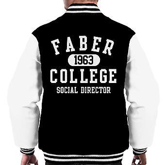 Animal House Faber 1963 College Social Director Men's Chaqueta Varsity