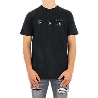 OFF WHITE Ow Logo Vintage S/S Slim Tee Black OMAA027F20FAB0011001 Top