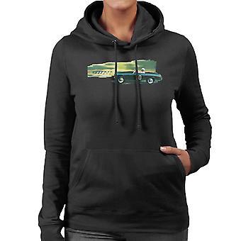 Austin Healey 20 Green British Motor Heritage Women's Hooded Sweatshirt