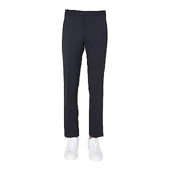 Z Zegna 8zf0177fsac28 Men's Blue Wool Pants