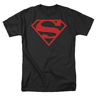 סופרמן אדום על חולצת מגן שחורה