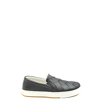 Bottega Veneta Ezbc439007 Men's Black Leather Slip On Sneakers