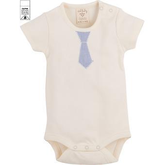 Idilbaby   Gots Organic  Boy  Baby   Albert   Cream   Body with Short Sleeves