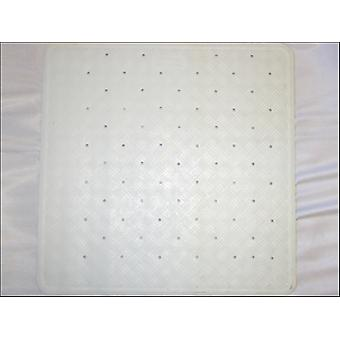 Home Label Rubber Shower Mat White 95058