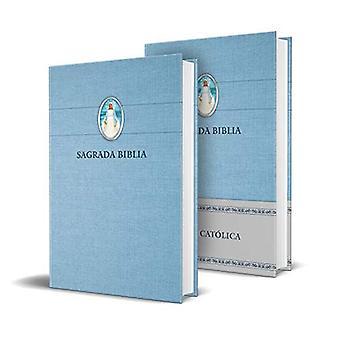 Biblia Catolica En Espanol. Tapa Dura Azul, Con Virgen Milagrosa En Cubierta / Katolinen Raamattu. Espanjan kieli, Kovalevy, Sininen, Kompakti