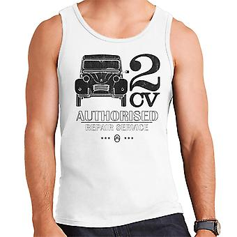 Citro?n 2CV Authorised Repair Service Black Logo Men's Vest