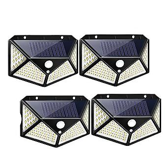 100 Led Solar Light Outdoor Solar Sunlight 3-modes Pir Motion Sensor For Garden
